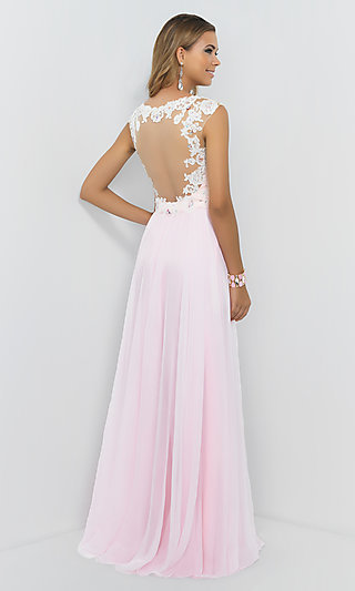 Cap Sleeve Pink Pastel Prom Gown By Blush