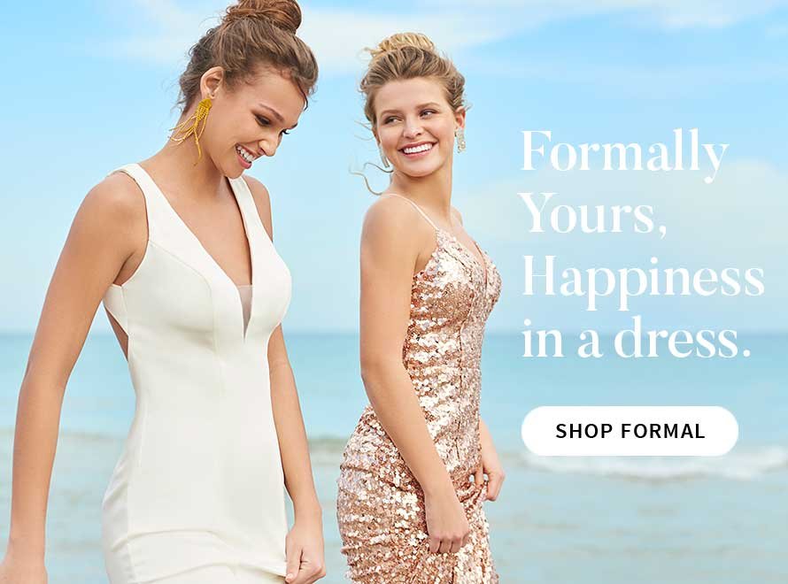 Formally Yours, happiness in a dress