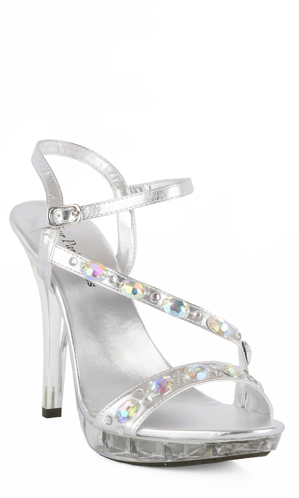 heels for prom silver free shipping