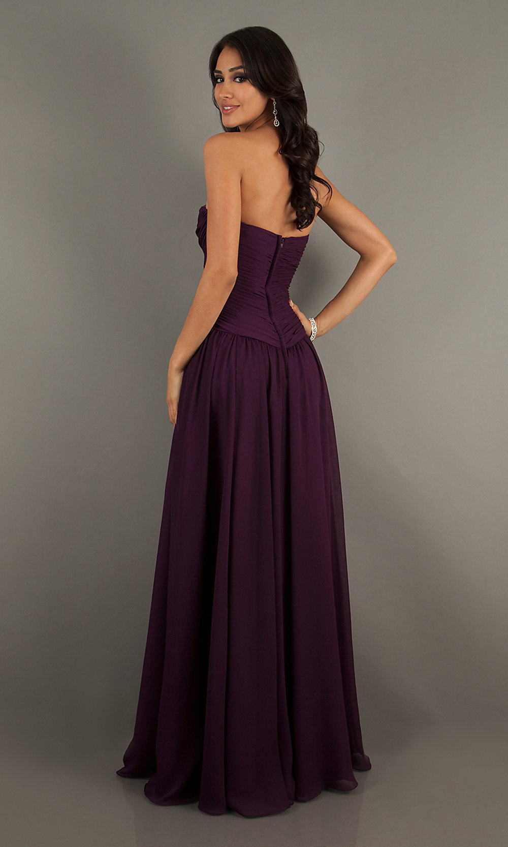 Strapless Sweetheart Gown Long Homecoming Dress Simply