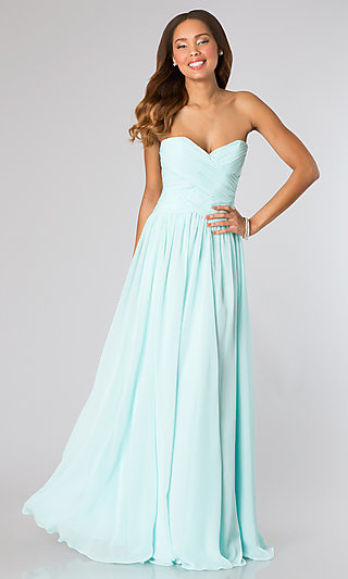 Strapless Sweetheart Floor Length Gown