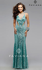 Long Prom Dress Style: FA-7331 Detail Image 2