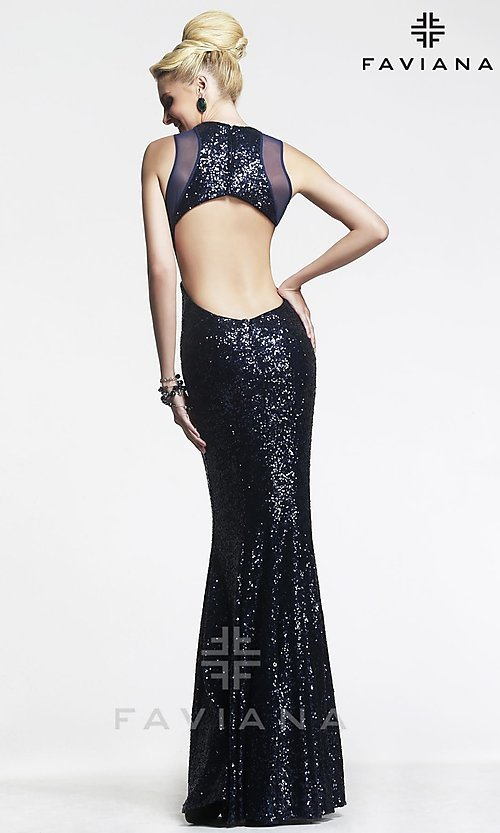 Long Prom Dress Style: FA-7331 Back Image