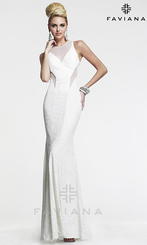 Long Prom Dress Style: FA-7331 Detail Image 3