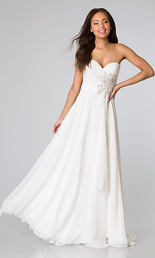 Long Strapless Classic Prom Gown JVN by Jovani