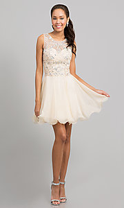 Short Prom Dress Style: DQ-8708 Detail Image 1