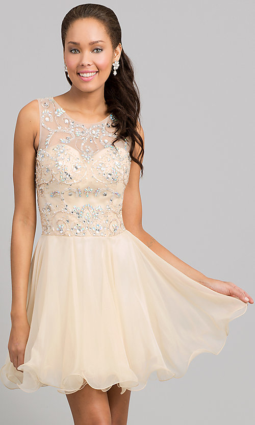 Short Prom Dress Style: DQ-8708 Front Image