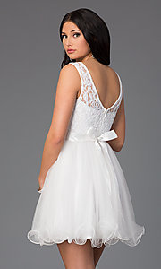 Image of Short Sleeveless A-Line Dress DQ-8741 Style: DQ-8741 Back Image