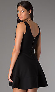 Image of affordable short sleeveless a-line party dress. Style: CH-2399 Back Image