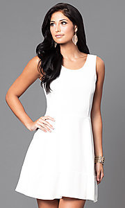 Image of affordable short sleeveless a-line party dress. Style: CH-2399 Detail Image 1