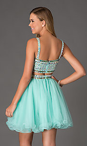 Image of Two Piece Crop Top Short Prom Dress NA-6031 Style: NA-6031 Back Image