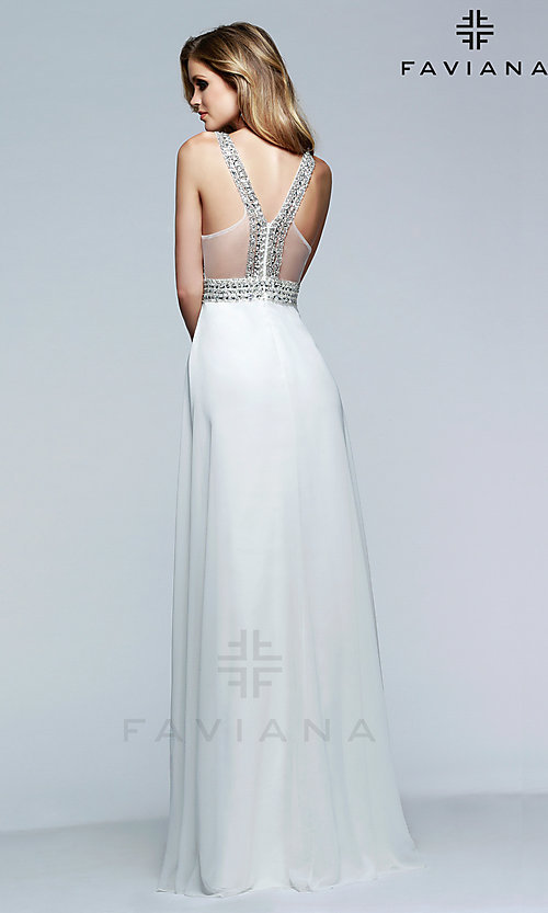 Beaded V-Neck Formal Gown by Faviana S7500