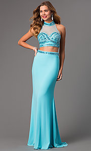 Image of Long High Neck Two Piece Dress by Faviana S7506 Style: FA-S7506 Detail Image 2