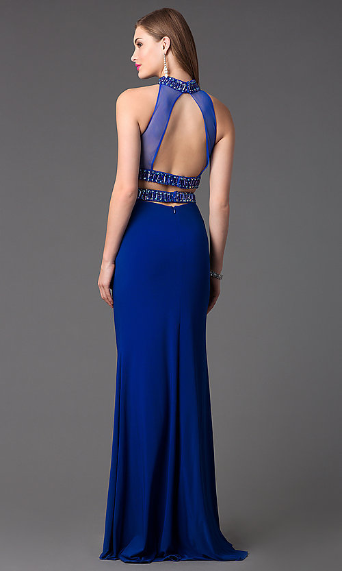 Image of Long High Neck Two Piece Dress by Faviana S7506 Style: FA-S7506 Back Image