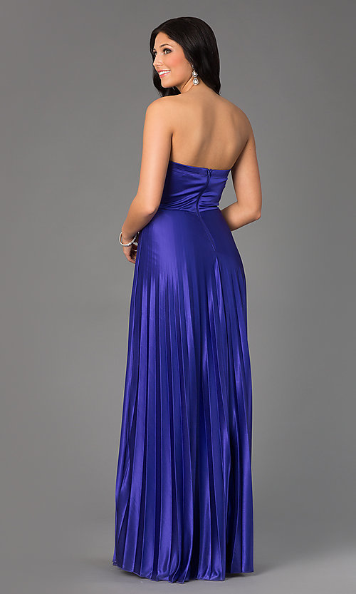 Image of Strapless Sweetheart Pleated Floor Length Dress  Style: MY-2288SK1S Back Image