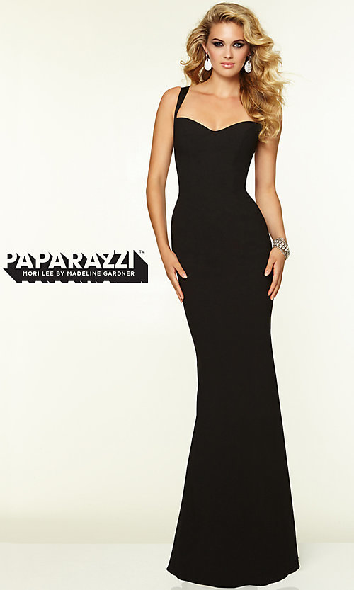 Image of Sleek Backless Prom Gown by Mori Lee 97099 Style: ML-97099 Detail Image 1