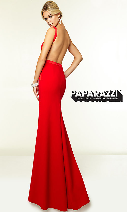 Image of Sleek Backless Prom Gown by Mori Lee 97099 Style: ML-97099 Front Image