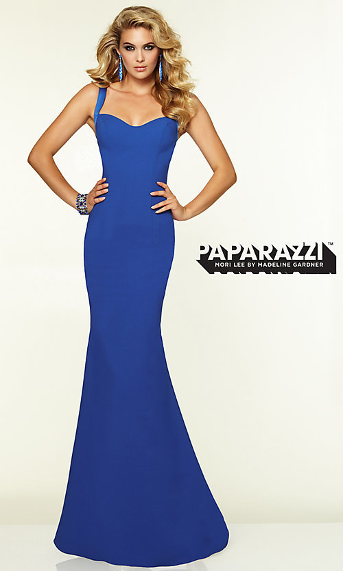Image of Sleek Backless Prom Gown by Mori Lee 97099 Style: ML-97099 Detail Image 2
