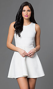 Image of short casual day-to-night a-line party dress.  Style: CH-2451 Detail Image 2