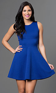 Image of short casual day-to-night a-line party dress.  Style: CH-2451 Detail Image 1