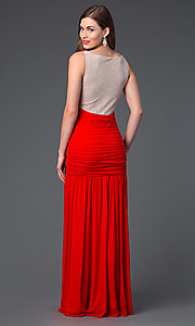 Image of Floor Length V-Neck Dress by Hailey Logan 211s62730 Style: HL-211s62730 Back Image