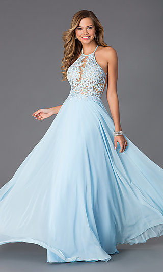Blue Prom Formal and Cocktail Dresses