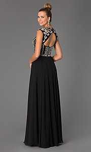 Image of Long Beaded Prom Dress JVN24413 by Jovani Style: JO-JVN-JVN24413 Back Image
