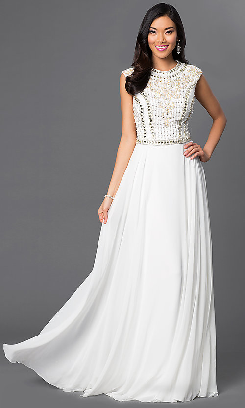Image of Long Beaded Prom Dress JVN24413 by Jovani Style: JO-JVN-JVN24413 Front Image