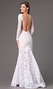 Image of Open Back Lace Mermaid Gown by Xtreme 32550 Style: XT-32550 Back Image