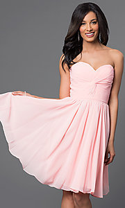 Image of Short Strapless Lace Up Sweetheart Dress Style: DQ-8951 Detail Image 2