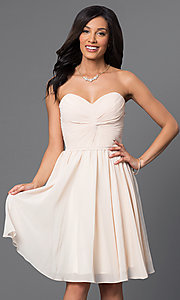 Image of Short Strapless Lace Up Sweetheart Dress Style: DQ-8951 Detail Image 3