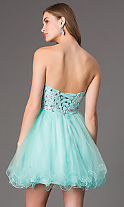 Image of Sweetheart Beaded Tulle Party Dress Style: DQ-9001 Back Image