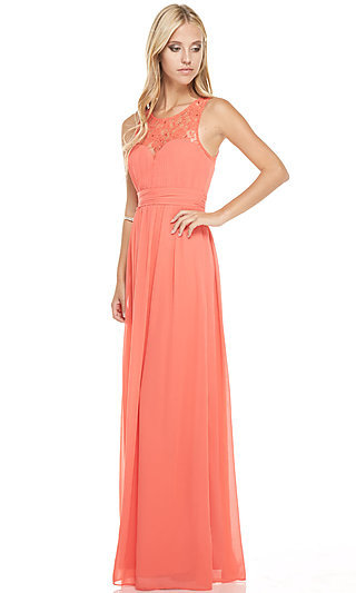 Floor-Length Lace Pastel Sweetheart Gown