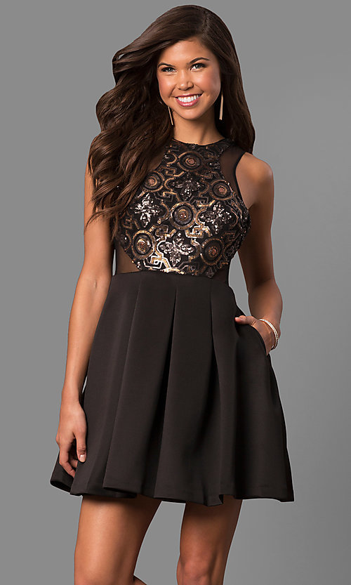 c700568740 Image of Short Open Back High Neck Dress by Faviana 7660 Style  FA-7660
