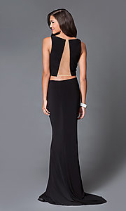 Image of Two Piece Sheer Back Long Dress Style: DJ-1817 Back Image
