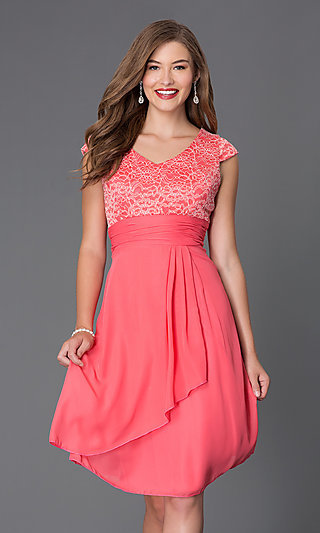 Hot Pink Formal Dresses- Short Pink Prom Dresses