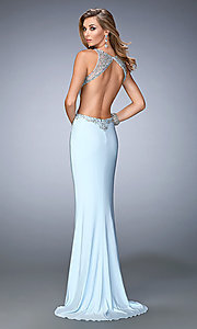 Image of Long Backless Formal Gown Style: LF-22642 Back Image