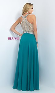 Image of Jewel Embellished Floor Length Prom Gown Style: BL-11085 Back Image