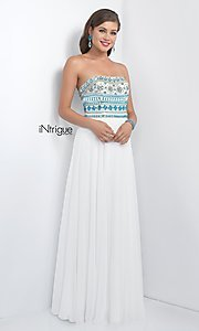Image of iNtrigue by Blush strapless formal prom dress. Style: BL-IN-161 Front Image