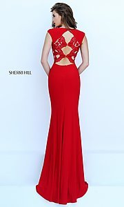Image of Floor Length Lace Formal Gown Style: SH-50286 Front Image