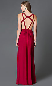 Image of Floor Length Formal Faviana Gown with Open Back Style: FA-7741 Back Image