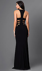Image of Floor-Length Faviana Gown with Side Cut Outs Style: FA-7820 Back Image