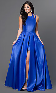 Image of backless Faviana high-low formal dress Style: FA-7752 Front Image