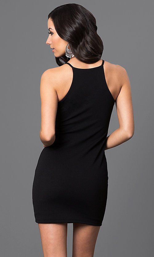 Image of sleeveless short racerback dress Style: CH-2634 Back Image