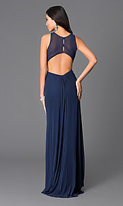 Image of Long Abbie Vonn Backless High Neck Dress Style: LF-AV-0188 Back Image