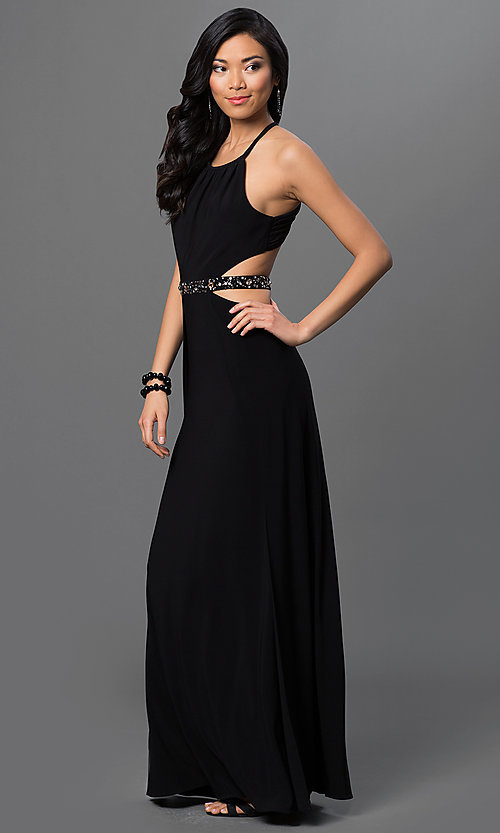 Morgan Black Floor Length Gown