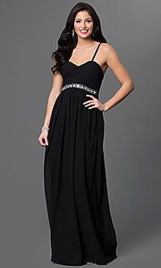 Image of Spaghetti Strap Empire Waist Floor Length Formal Dress Style: LP-23239 Front Image