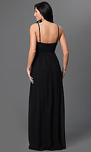 Image of Spaghetti Strap Empire Waist Floor Length Formal Dress Style: LP-23239 Back Image