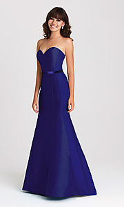 Image of strapless Madison James long mermaid gown. Style: NM-16-389 Detail Image 2