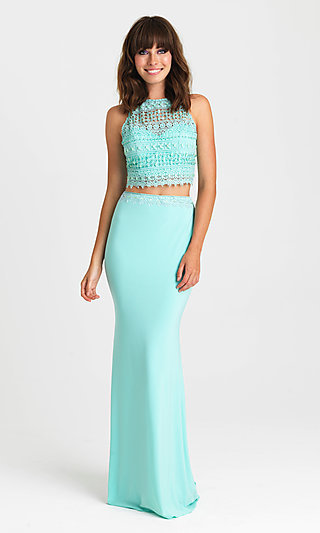 Long Two-Piece Formal Prom Dress by Madison James